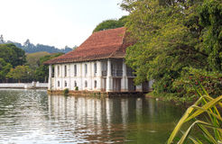 Lake near Temple of Tooth Relic Stock Photo