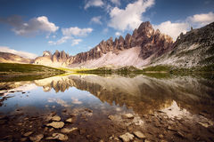 Lake near Tre Cime Royalty Free Stock Image