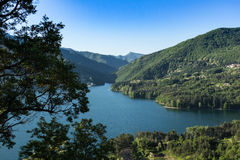 Lake near Tuscany royalty free stock images