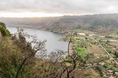 Lake Nemi on the Alban Hills, Italy Stock Image