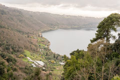 Lake Nemi on the Alban Hills, Italy Royalty Free Stock Images