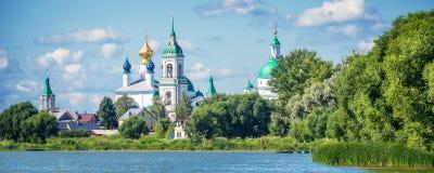 Lake Nero and monastery of St Jacob Savior, Rostov Golden ring Russia. Lake Nero and monastery of St Jacob Savior, Rostov, Golden ring Russia Stock Photography