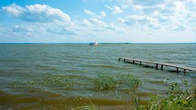 Lake Nero. Old pier Stock Image