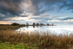 Lake in the netherlands Royalty Free Stock Images