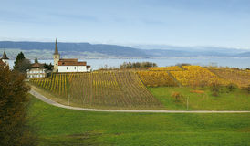 Lake Neuchatel Stock Photography