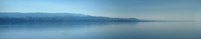 Lake of Neuchatel panorama, Switzerland Royalty Free Stock Photos
