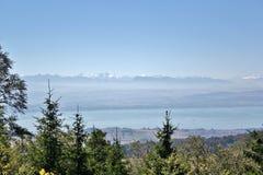 Lake Neuchatel, Switzerland. View across to Lake Neuchatel, Switzerland Stock Image