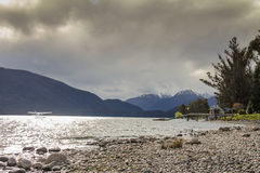 Lake in New Zealand. Beautiful lake in New Zealand south island Stock Photo
