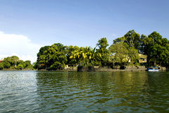 Lake Nicaragua on a background an active volcano Concepcion Royalty Free Stock Images