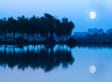Lake of the night Royalty Free Stock Images
