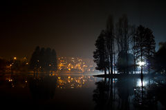 Lake by night Royalty Free Stock Images