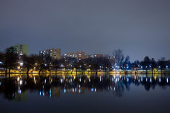 Lake by night Royalty Free Stock Image