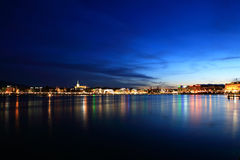 Lake in the Night royalty free stock images