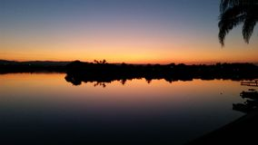 Lake night Stock Image