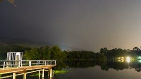 Lake at night stock video footage