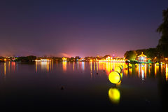The lake night xian Royalty Free Stock Photography