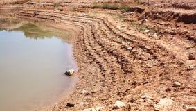 lake niskiej wody krawędzi Obrazy Stock