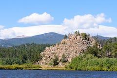 Lake Nokomas in the Laramie Mountains of Colorado. Lake Nokomas. Scenic landscape of the Northern Colorado Laramie Mountains royalty free stock images