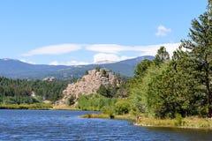 Lake Nokomas in the Laramie Mountains of Colorado. Lake Nokomas. Scenic landscape of the Northern Colorado Laramie Mountains royalty free stock photos