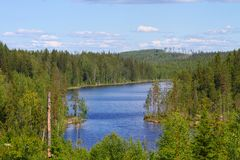 Finland:  Lake in the Wilderness Stock Photos