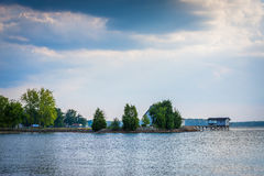 Lake Norman, at Ramsey Creek Park, in Cornelius, North Carolina. Stock Photo
