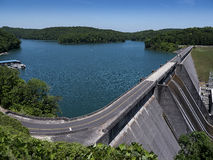 Lake Norris formed by the Norris Dam on the River Clinch in the Tennessee Valley USA Royalty Free Stock Images