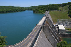 Lake Norris formed by the Norris Dam on the River Clinch in the Tennessee Valley USA Stock Photography