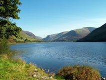 Lake North Wales. Lovely reservoir, lake or Llyn in North wales, UK Royalty Free Stock Images
