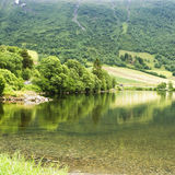 Lake in Norway. Lovely lake in Norway forest hills Royalty Free Stock Photography