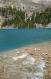 Lake O'Hara with Creek and Falls Royalty Free Stock Photos