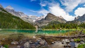 Lake O`Hara Panorama. Yoho National Park, British Columbia Stock Image