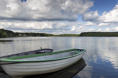 Lake Oberpfuhlsee in the eastern part of Germany Royalty Free Stock Image