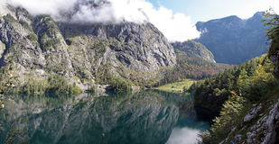 Lake Obersee, Bavaria. Royalty Free Stock Images