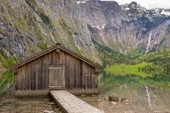 Lake Obersee. Near Berchtesgaden, Bavaria, Germany Stock Images