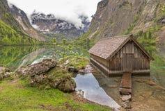 Lake Obersee. Near Berchtesgaden, Bavaria, Germany Stock Photography