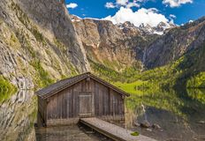 Lake Obersee. Near Berchtesgaden, Bavaria, Germany Stock Photos