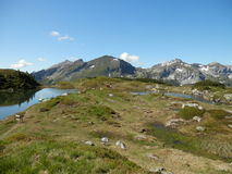 Lake in the Obertauern Royalty Free Stock Image