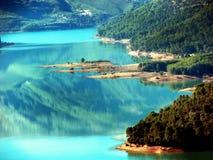 Lake och trees Fotografering för Bildbyråer