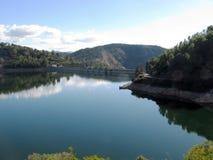 Lake och trees Royaltyfri Fotografi