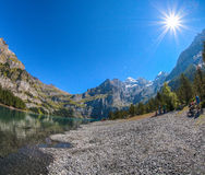 Lake Oeschinen Shoreline Royalty Free Stock Image