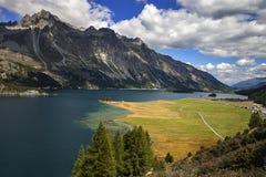 Lake Of St. Moritz Royalty Free Stock Photos