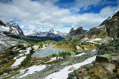 Lake Ohara, Yoho national park Stock Images