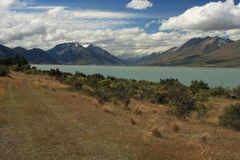 Lake Ohau in Mount Cook National Park Royalty Free Stock Images
