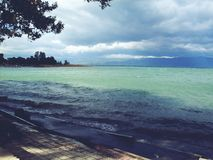 Lake Ohrid royaltyfria foton
