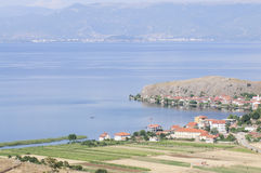 Lake ohrid albania europe Stock Photography