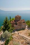 Lake Ohrid. The Church of Saint Jovan Kaneo in Ohrid, Macedonia Stock Photos