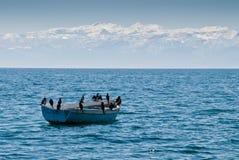 Lake Ohrid. A landscape of The Lake Ohrid in Macedonia Stock Photo