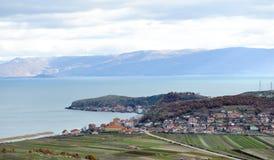 Lake Ohrid, Lin village , Albania Stock Image