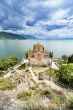 Lake Ohrid, Macedonia, church Jovan Kaneo by the lake Stock Photography
