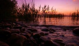 Lake Ohrid, Macedonia. Picture of a Sunset at Lake Ohrid, Macedonia Stock Image
